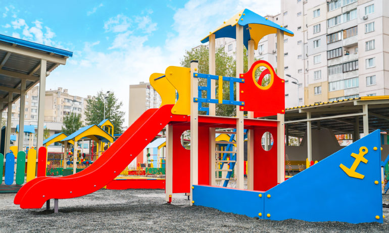 Street play area from Biland, which was made for one of the largest kindergartens in Kyiv